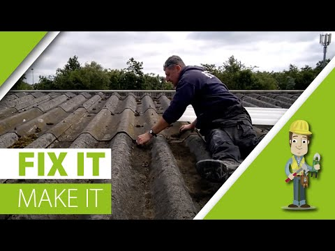 How to repair a profiled/asbestos roof cheap for life
