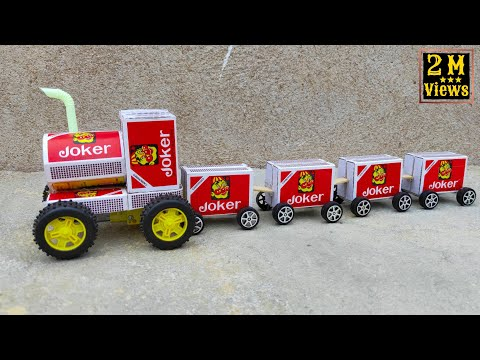 How To Make Matchbox Train At Home DIYTOY