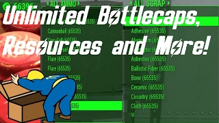 Fallout 4 - UNLIMITED BOTTLECAPS, MATERIALS AND AMMO GLITCH WORKING FALLOUT 4 GLITCHES