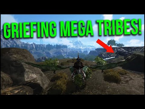 GRIEFING MEGA TRIBES! | ARK Official PvP - Ep.11
