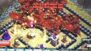 Clash of clans - 300 wall breakers 216 lighting spells & 300 Goblins (Gameplay)