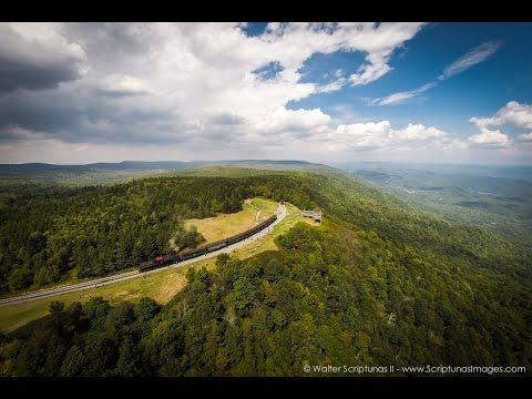 Aerial West Virginia: Cass Scenic Railroad