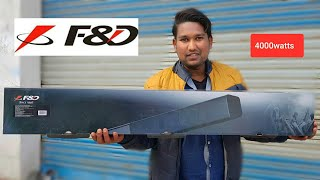 F amp D T-160X 2 0 SOUNDBAR UNBOXING REVIEW 4000watts Only 4000rs