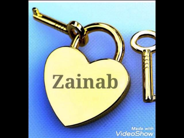 اسم زينب بالانجليزي و العربي مزخرف روووووووعة Youtube