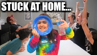 STUCK AT HOME with FOUR KIDS | THREE FAMILY GAMES to PLAY with KIDS when YOU'RE STUCK AT HOME
