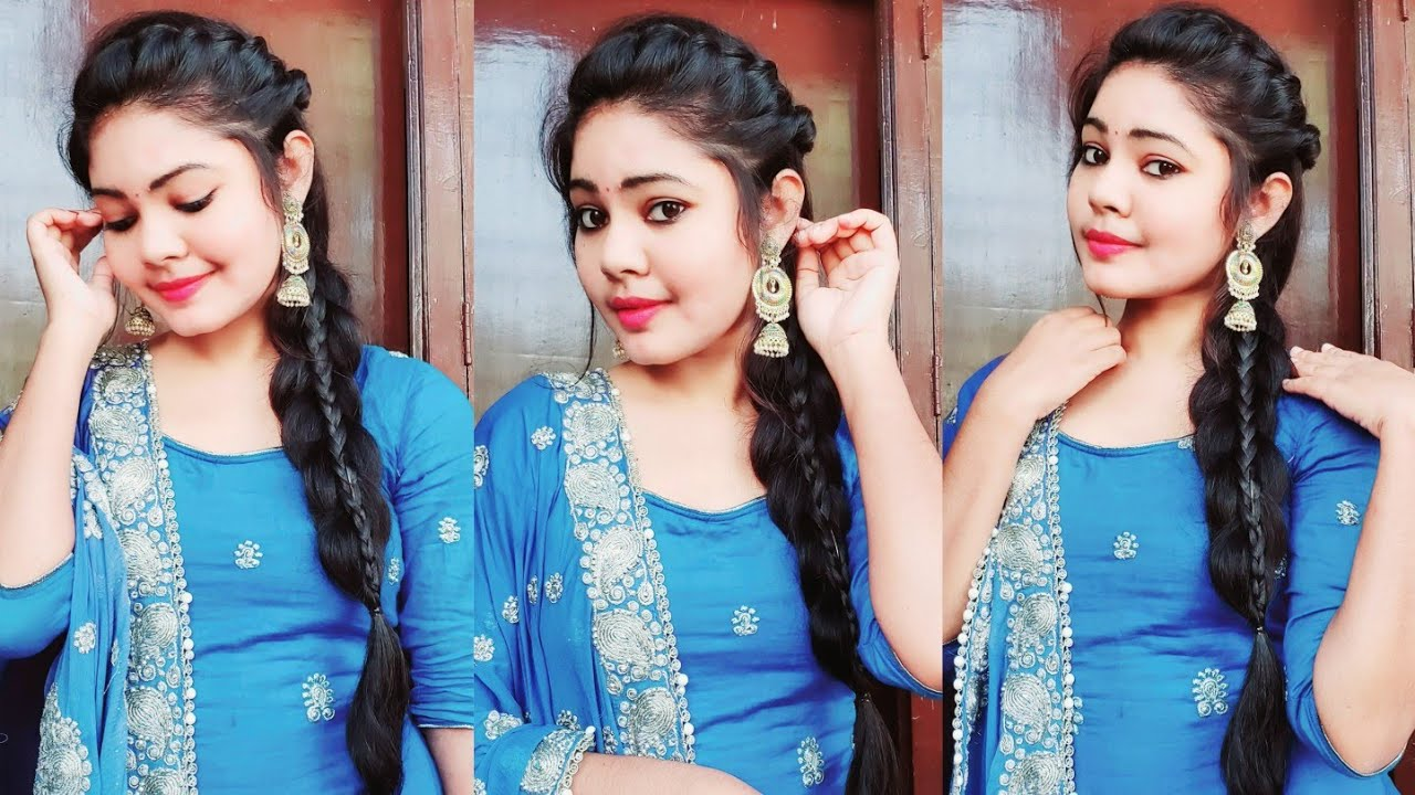 Easy Braid Hairstyle Punjabi Braid Look For Indian Party Wedding Guest Cute Styles Youtube