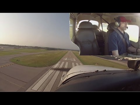 First Solo Flight in a Cessna 172 with ATC Audio