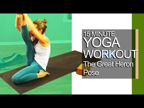 15 minute Yoga Workout Heron Posture