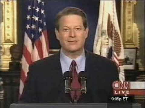 Al Gore concedes presidential election of 2000