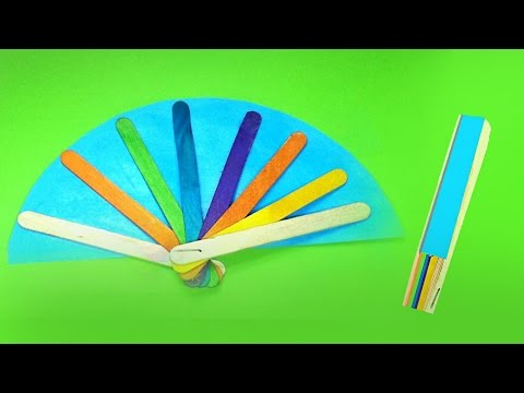 Easy DIY Hand Fans Using Popsicle Sticks | Easy Kid Crafts