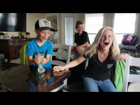 Mom pranks kids with water bottle coin prank