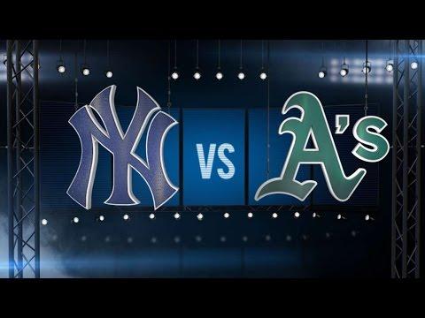 5/30/15: Bullpen blanks A's as Beltran lifts Yankees