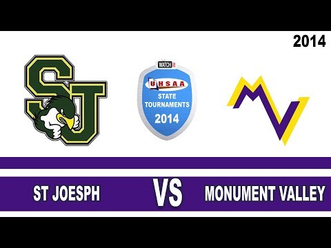1A Girls Basketball: St Joseph vs Monument Valley High School UHSAA 2014 State Tournament Round 1