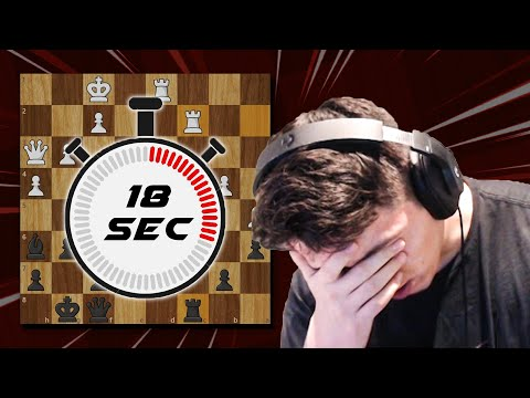 Chess grandmaster starts every game with only 18 seconds