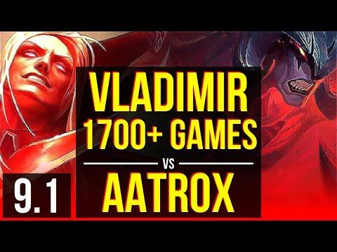 VLADIMIR vs AATROX (TOP) | 1700+ games, KDA 7/0/3, Godlike | Korea Master | v9.1