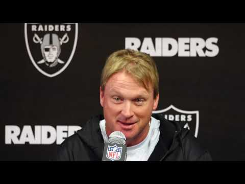 Raiders Head Coach Jon Gruden Responds To Firing Of General Manager Reggie McKenzie