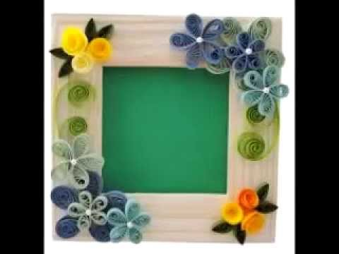 handmade photo frame craft ideas youtube - Picture Frame Design Ideas