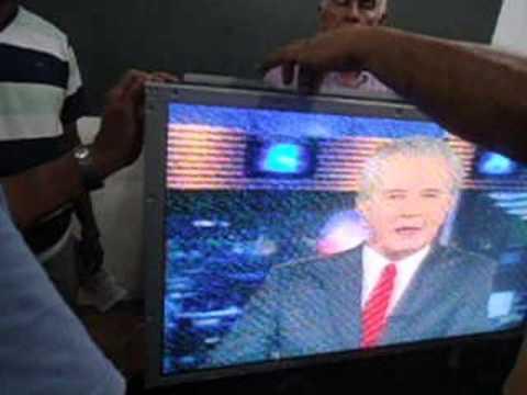 Tv Samsung Com Faixa Sobre Metade Da Tela Como Foi