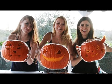 EXTREME PUMPKIN CARVING CHALLENGE!
