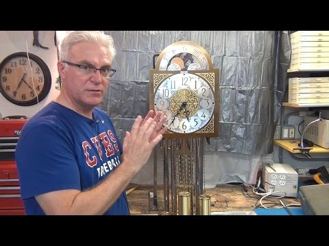 How To Setup A Grandfather Clock In Beat and Regulation To Keep Correct Time part 4 of 4
