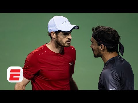 Andy Murray and Fabio Fognini react after heated Shanghai Masters match | ATP Tour