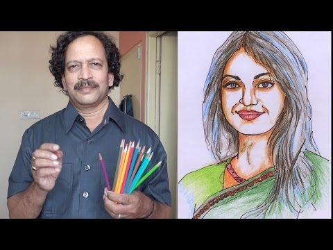 HOW TO SKETCH A PORTRAIT- FACE DRAWING AND PAINTING- FOR LEARNERS