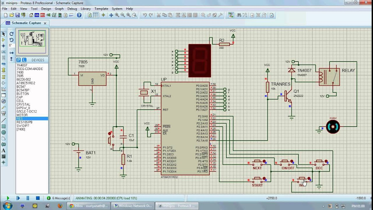 Stopwatch Design Circuit Ask Answer Wiring Diagram Microcontroller Based Timer For Load Control Proteus Simulation Youtube Paper Circuits