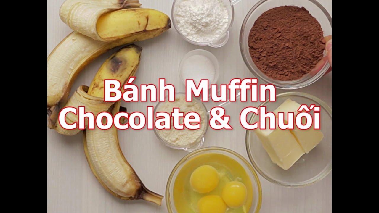 [Cookat Việt Nam] Bánh Muffin Chocolate & Chuối