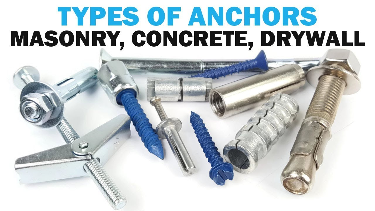 The Types Of Masonry Anchors Fasteners 101 Doovi