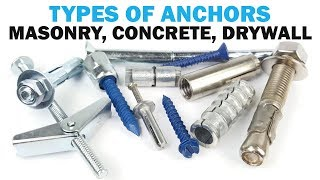 The Types of Masonry Anchors | Fasteners 101