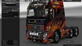 [ETS2]Euro Truck Simulator 2 New Volvo FH16 Accessories + Interior v 3.3