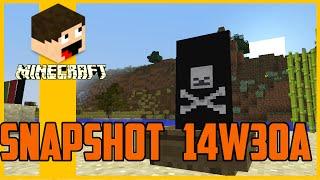 Minecraft 1.8 - Snapshot 14w30a - Bandeiras!