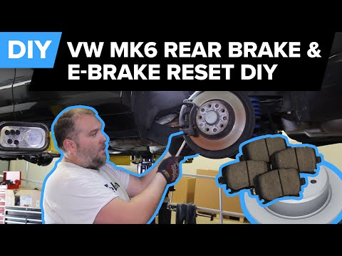 VW Rear Brake Replacement & E-Brake Reset – Easy DIY (Jetta, Passat, Eos, Tiguan, CC, Golf)