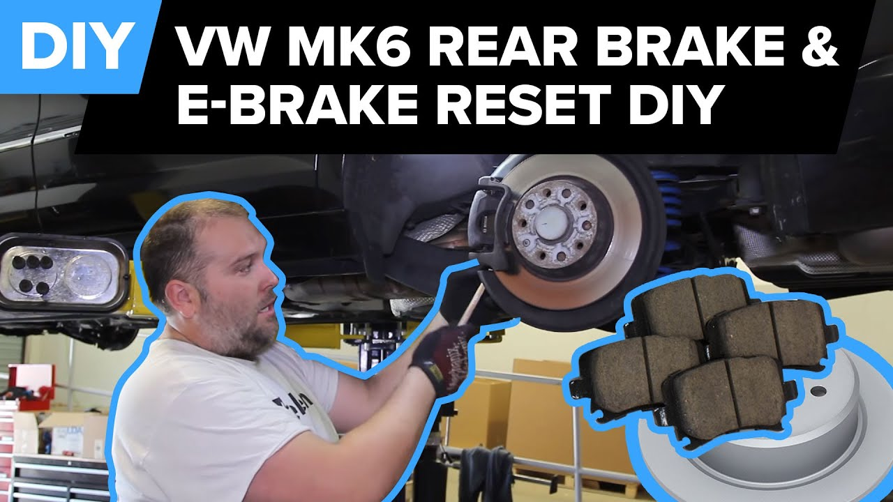 vw rear brake replacement e brake reset easy diy jetta passat eos tiguan cc golf  [ 1280 x 720 Pixel ]