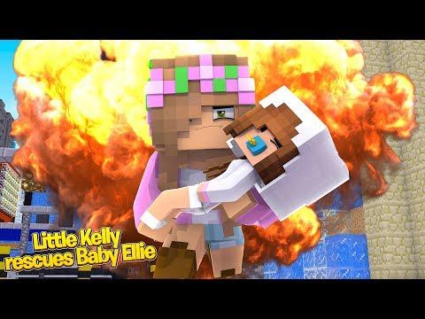 LITTLE KELLY RESCUES BABY ELLIE! | Minecraft Little Kelly thumbnail