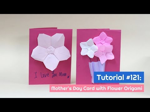 DIY Mother's Day Card with Origami Flower Tutorial   The Idea King Tutorial #121