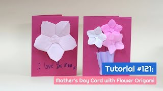 DIY Mother's Day Card with Origami Flower Tutorial | The Idea King Tutorial #121