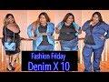 Denim X10|Fashion Haul|Denim Fashion|Kim K Inspired|Plus Size Lookbook|Fashion Nova