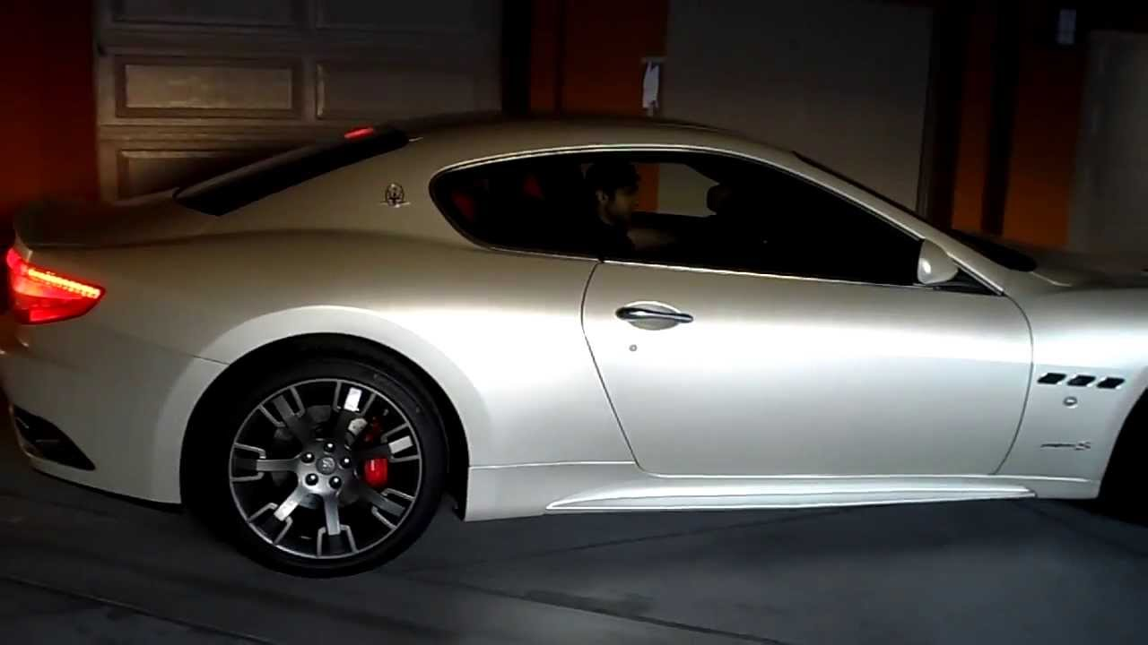 Maserati Granturismo R >> Pearl White Maserati Granturismo S Rare Bianco Fuji Start up stock exhaust sound. - YouTube