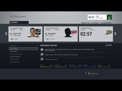 Draft, Free Agency and More! - NHL 17 - Franchise Mode - Buf