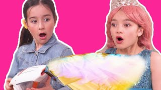 MAGICAL VACUUM CLEANER ✨ The Cleaning that saved the day   - Princesses In Real Life | Kiddyzuzaa