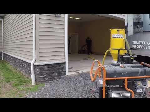 Garage Build Part 2 ( Polyaspartic floor coating ) stronger than epoxy