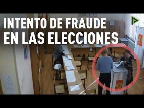 Graban un intento de fraude en las elecciones presidenciales en Rusia