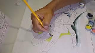 Aprenda a Desenhar e Pintar Orquídea, Tronco e Folhas
