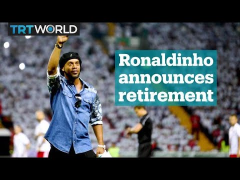 Brazilian football legend Ronaldinho announces his retirement