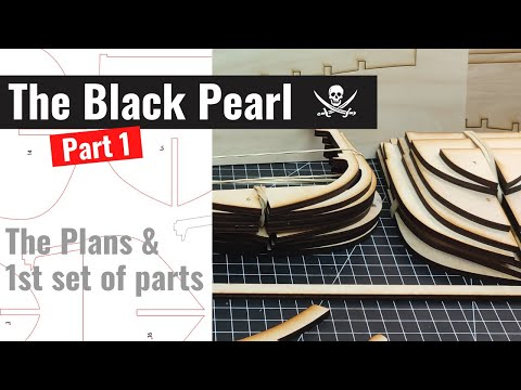 The Black Pearl model ship - part 1 - The plans   Scratch build from plans wooden model ship