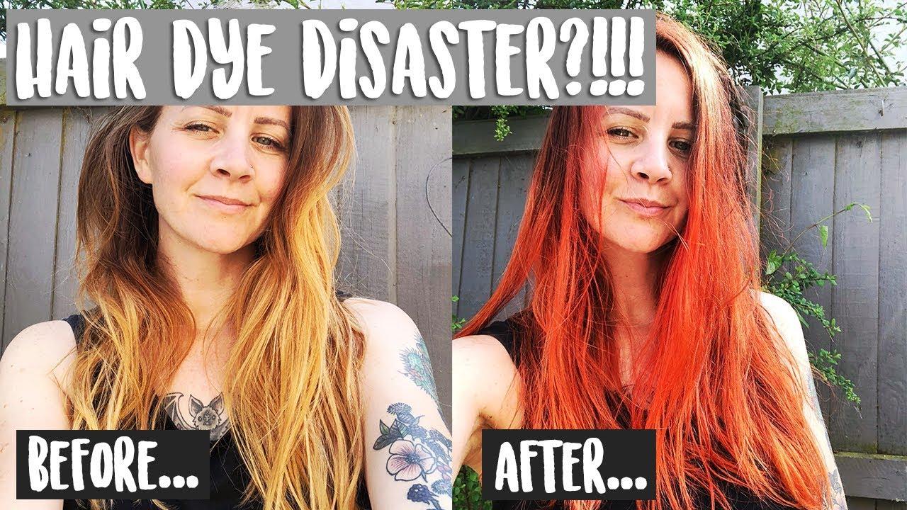 ARCTIC FOX SUNSET ORANGE BEFORE & AFTER   VEGAN HAIR DYE