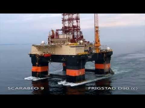 Scarabeo 9 - Ultra Deepwater Drilling Rig - Frigstad D90 Design