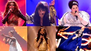 My Top 50 Eurovision Solo Female Entries (1999 - 2018)