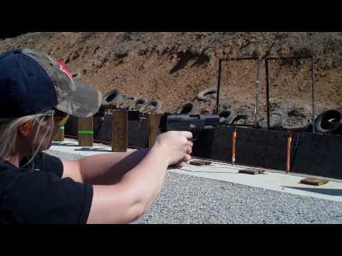 Stephanie Shooting The FN 5.7mm Pistol